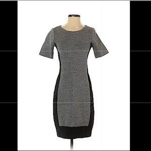 J Crew Bodycon Colorblock Grey & Black Dress